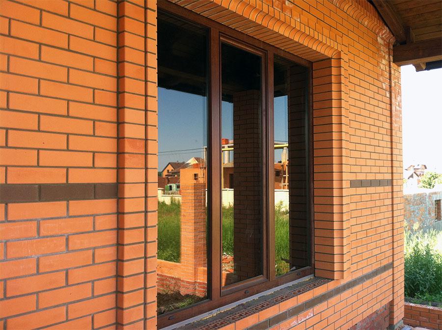 Остекление коттеджа, алюминиевые окна