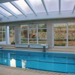 Остекление бассейна с раздвижными дверями в г. Керчь