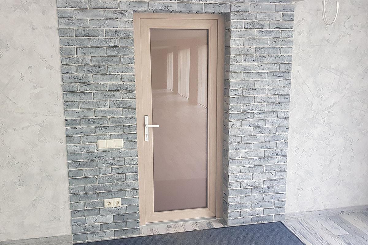 Установка входной двери, цвет Шеффилд светлый