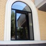 Арочное алюминиевое окно