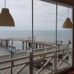 Остекление кафе безрамными раздвижными окнами с. Малореченское